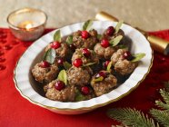 Meat Ball with cranberries — Stock Photo