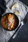Zuppa di pomodoro con farro — Foto stock