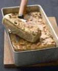 Torta di castagne in teglia — Foto stock