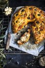Finocchio e Olive pane — Foto stock