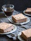 Brownies de saludables patatas sin harina libre de gluten - foto de stock