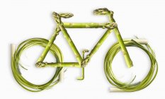 Vegetables Forming Bicycle — Stock Photo