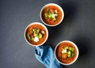 Реліквія помідор приготування гаспачо — стокове фото