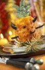 Ananas fritto con baccelli — Foto stock
