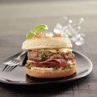 Cheeseburger di stile italiano — Foto stock