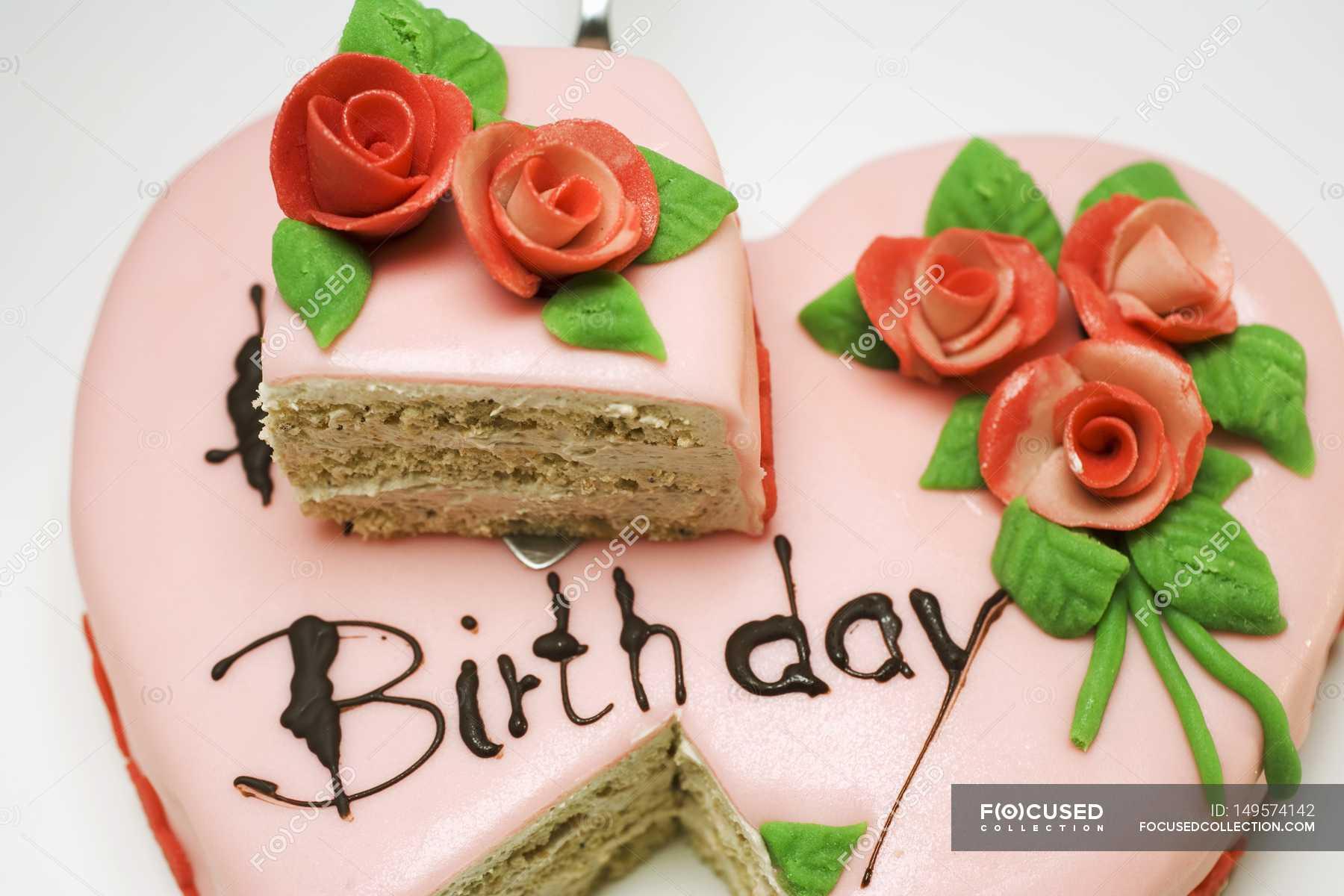 Pink heart shaped birthday cake stock photo 149574142 izmirmasajfo