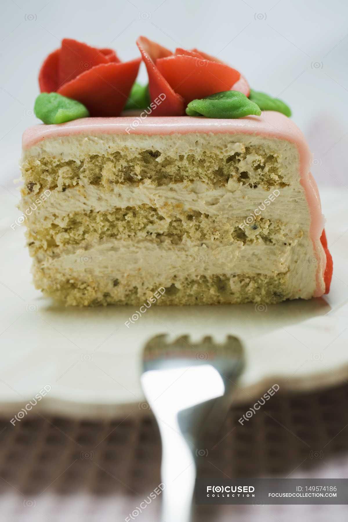 Astonishing Piece Of Birthday Cake Food Gastronomy Stock Photo 149574186 Personalised Birthday Cards Petedlily Jamesorg