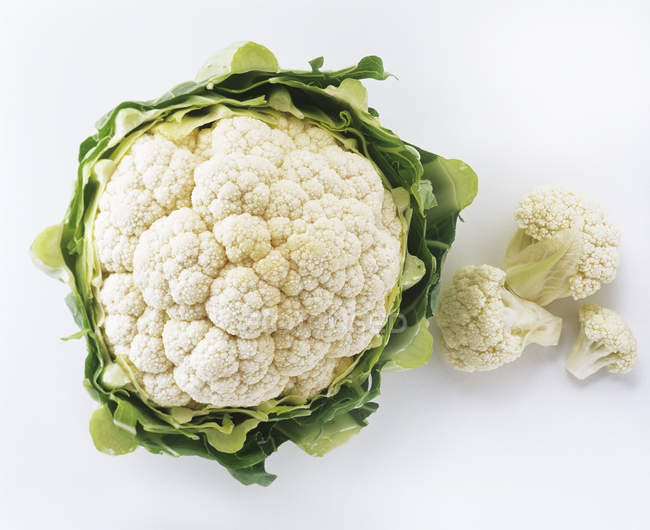 Head of Cauliflower, close-up — Stock Photo