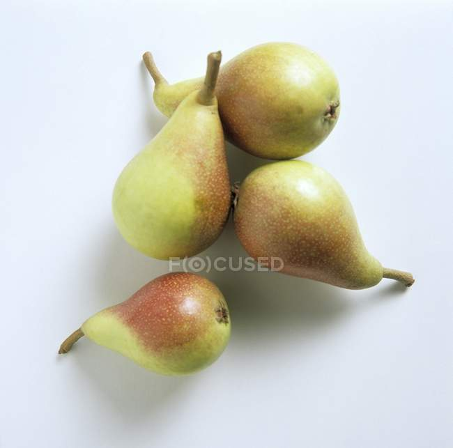 Four Forelle Pears — Stock Photo