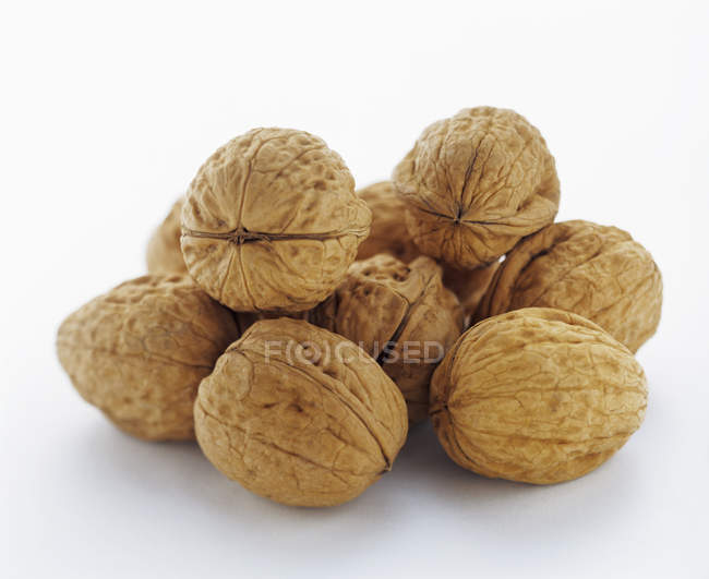 Pile of Walnuts, macro — Stock Photo