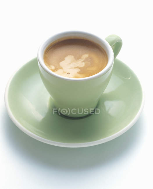 Green Cup of Double Espresso — Stock Photo