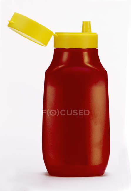 Ketchup in Plastic Squeeze Bottle — Stock Photo