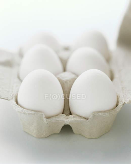 Carton of White Eggs — Stock Photo