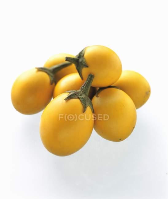 Fresh yellow Eggplants — Stock Photo