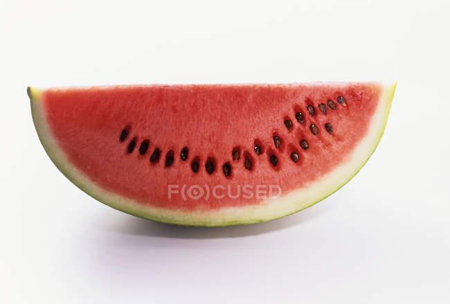 Fatia de Closeup de melancia — Fotografia de Stock