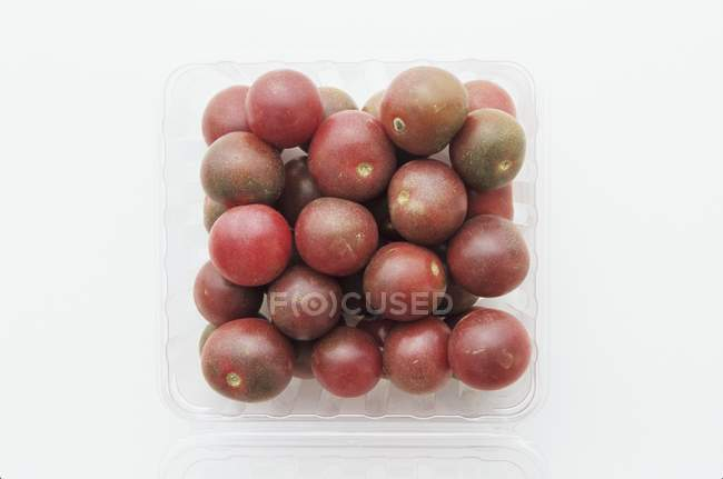 Black cherry tomatoes — Stock Photo