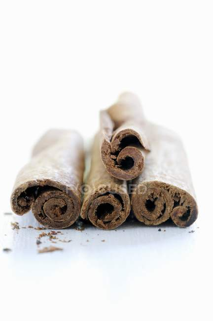 Cinnamon sticks on white background — Stock Photo