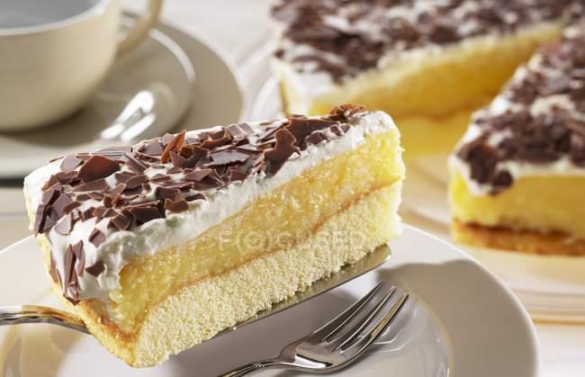 Шведська-яблучний пиріг — стокове фото