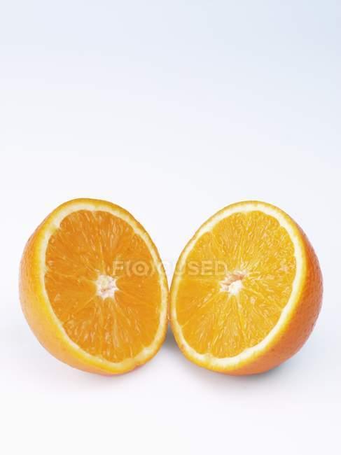 Two orange halves — Stock Photo