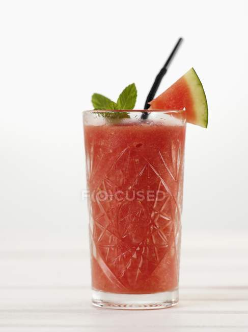 Watermelon drink in glass — Stock Photo