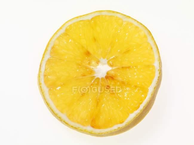 Juicy slice of orange — Stock Photo