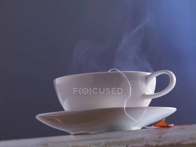 Streaming cup of tea — Stock Photo