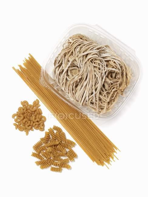 Pasta di grano intero assortiti — Foto stock