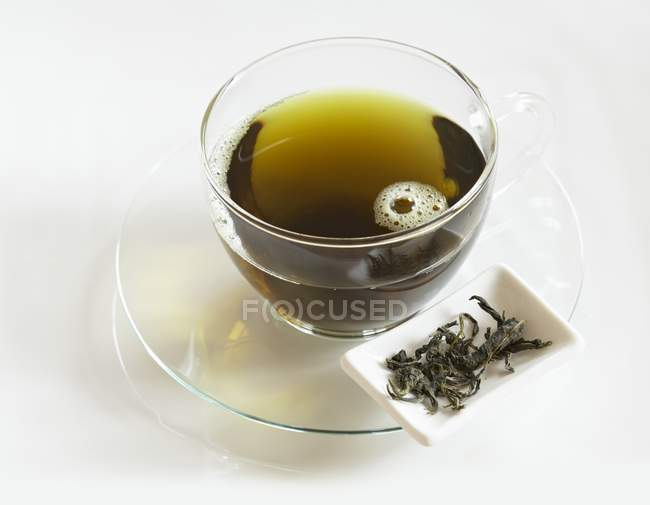 Mulberry tea in cup — Stock Photo