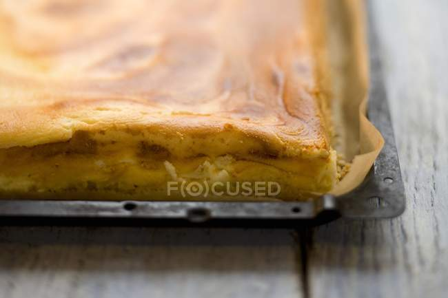 Tray bake cheesecake — Stock Photo
