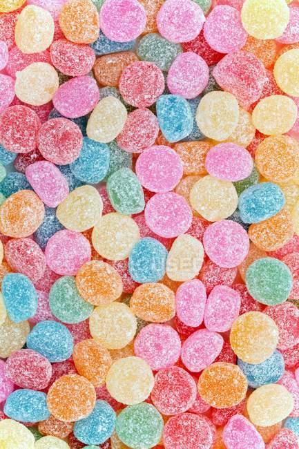 Vista dall'alto delle gocce di gomma da zucchero — Foto stock