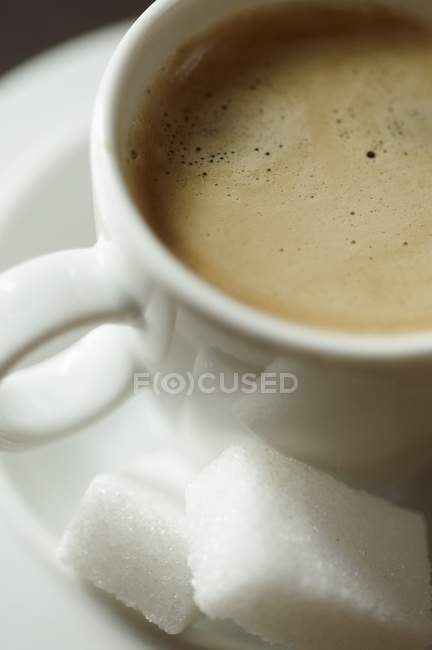 Espresso in white cup — Stock Photo