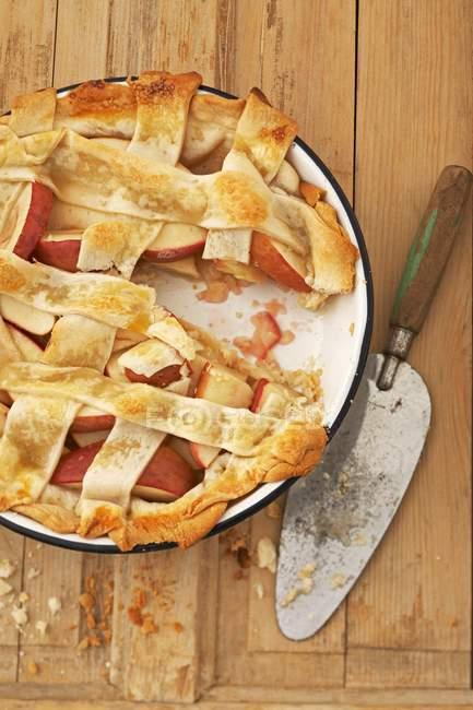 Torta di mele della grata crosta — Foto stock