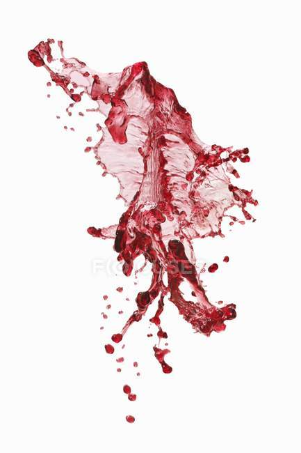Splash of red wine — Stock Photo