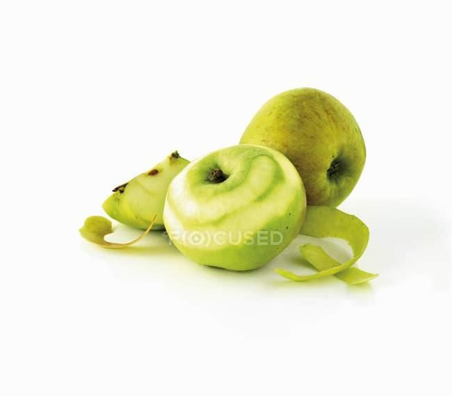 Зелений здорових, дозрілих яблук — стокове фото
