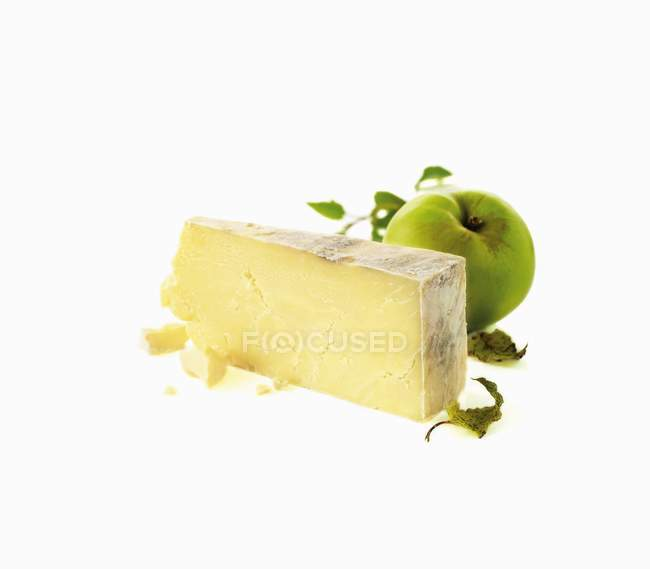 Piece of hard cheese — Stock Photo