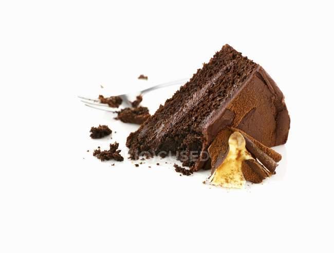 Шматок шоколадного торта — стокове фото