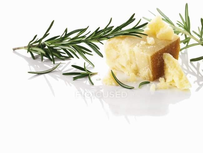 Queso parmesano y romero - foto de stock