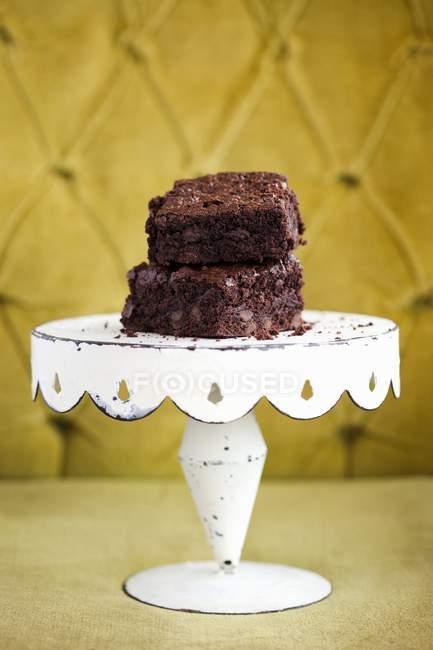 Brownies de Chocolate caseiros deliciosos — Fotografia de Stock