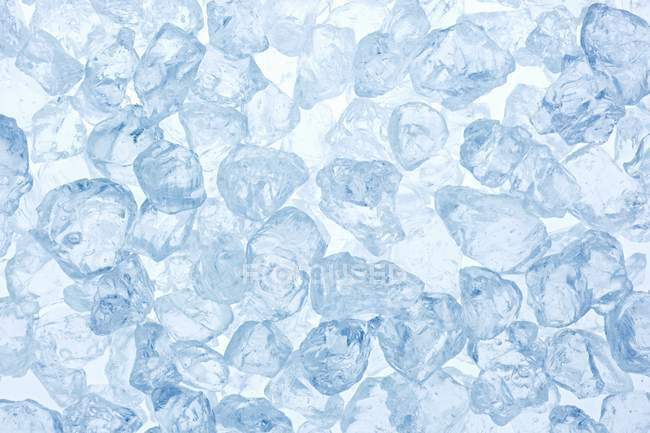 Closeup top view of ice chunks — Stock Photo