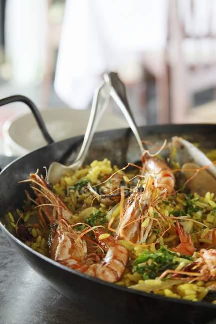 Paella, spanisches Gericht — Stockfoto