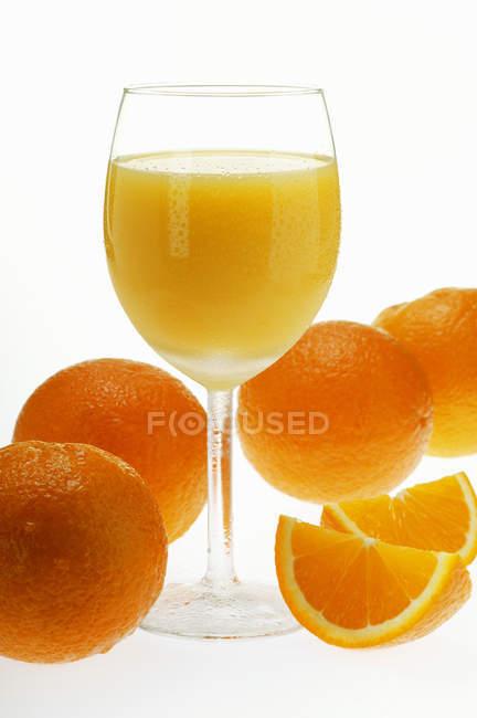 Succo d'arancia freddo — Foto stock