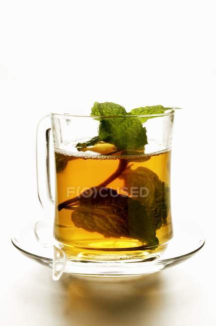 Peppermint tea with mint — Stock Photo