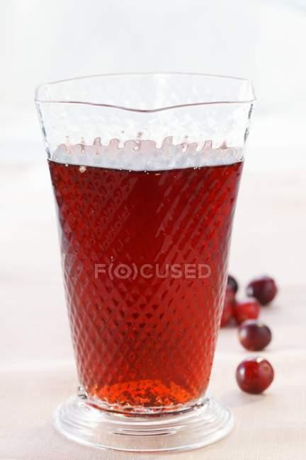 Succo di mirtillo in vetro — Foto stock