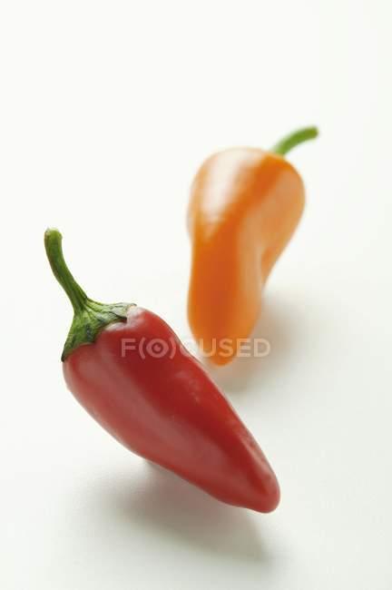 Перец красный и оранжевый — стоковое фото