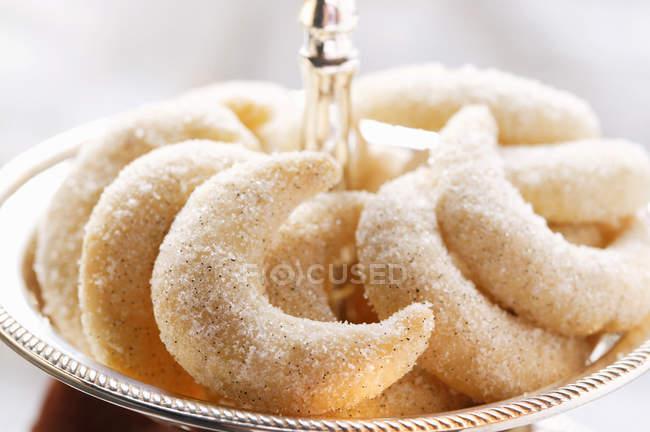 Crescent Christmas Cookies — Stock Photo