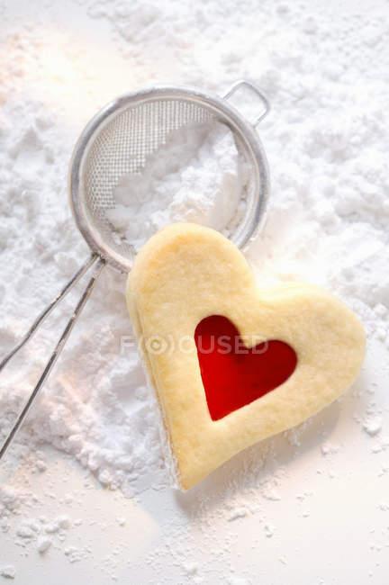 Cœur de pâte sucrée — Photo de stock