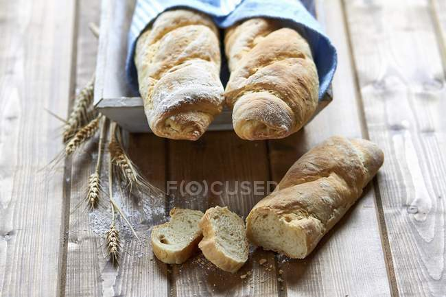 Sesame seed baguettes — Stock Photo