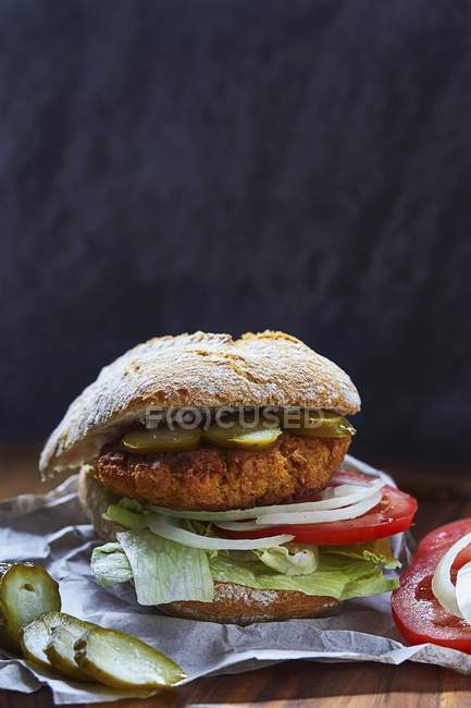 Che serve falafel veggie burger — Foto stock