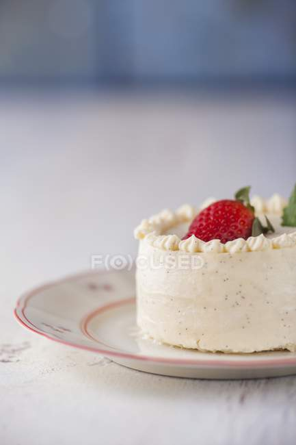 Vanilla cream tartlet — Stock Photo