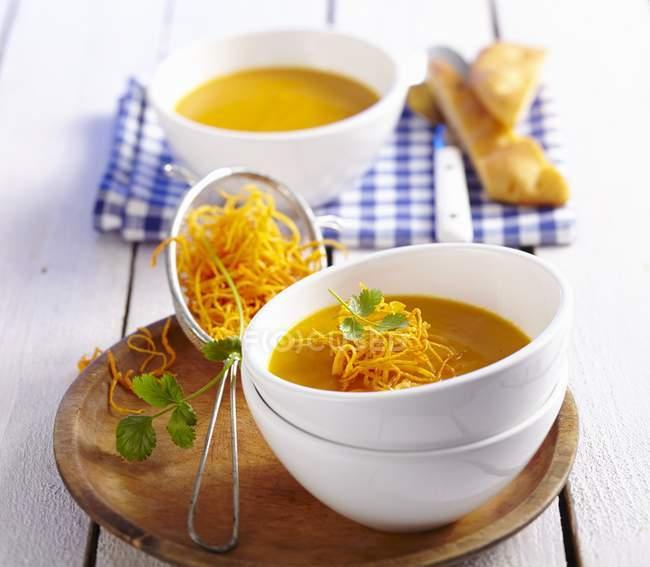 Sopa de mamão e cenoura — Fotografia de Stock
